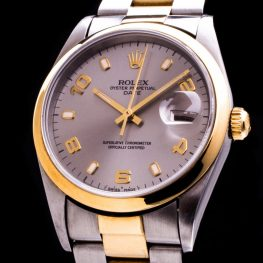 Oyster Perpetual Date Stahl/Gold  Automatic Herrenuhr Ref. 15223