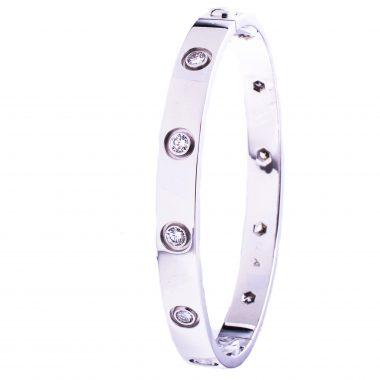 Cartier Love Armband 18K Weissgold 10 Diamonds 0,96ct Markenschmuck