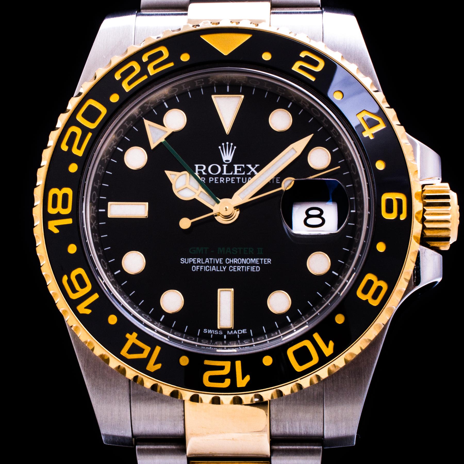 GMT-Master II Stahl/Gold Automatic Date Ref. 116713LN Full Set LC100 Herren