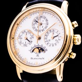 Villeret 18K Gold Split Second Chronograph Perpetual Calendar Herren