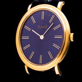 18K Gold Oval Ref. 9821 Vintage Damenuhr