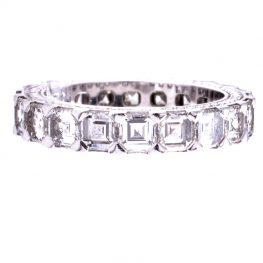 Ice Cube 18K Weissgold Memoire Ring 4.33 Ct. Brillaten VP. 67.000,00 Euro