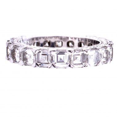 Chopard Ice Cube 18K Weissgold Memoire Ring 4.33 Ct. Brillaten VP. 67.000,00 Euro